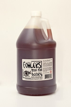 Fowler's Pure Texas Honey- 1 Gallon - Raw Honey - TEXAS ONLY